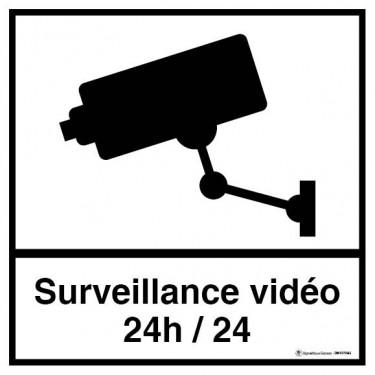 Lot de 5 autocollants visuel Carré Surveillance vidéo