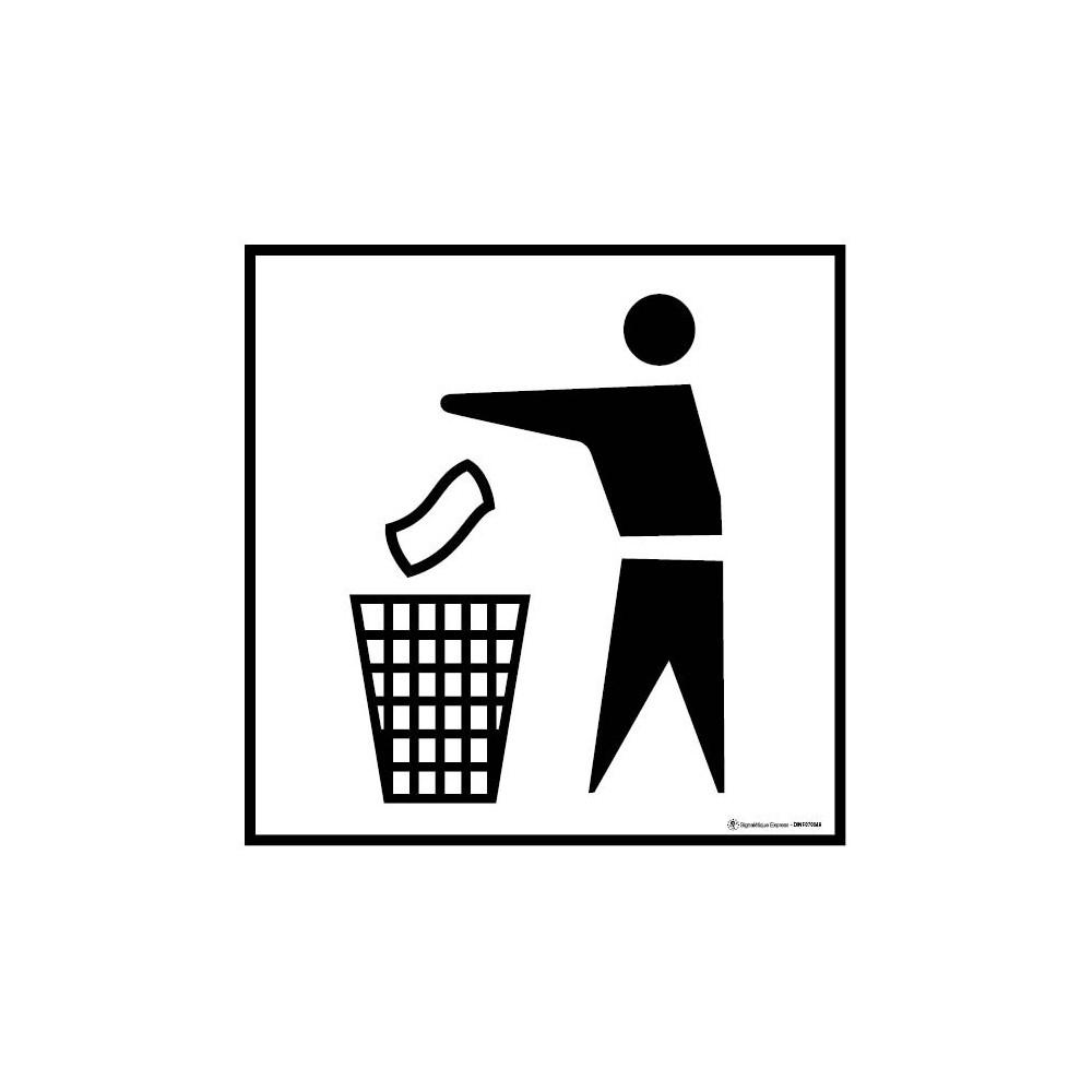 lot de 5 autocollants poubelle