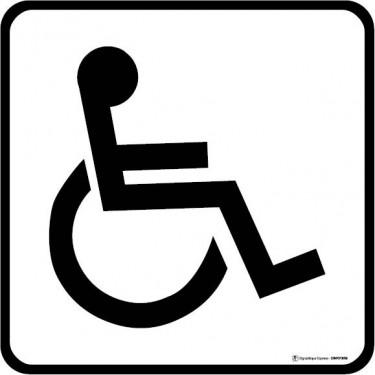 Visuel Carré Zone accessible aux handicapés en fauteuil roulant