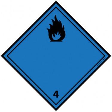 Panneau ADR 4.3 Dégage du gaz inflammable au contact de l'eau