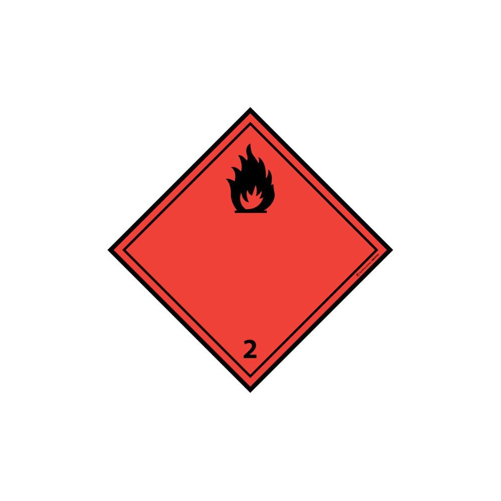 Visuel Losange Gaz inflammables