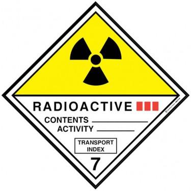 Visuel Losange Matières radioactives catégorie III