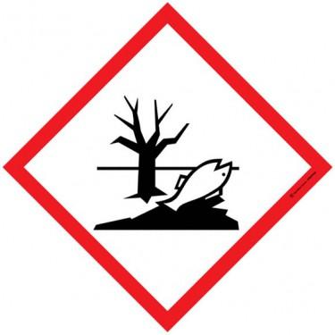 Lot de 5 autocollants visuel Losange Dangereux pour le milieu aquatique