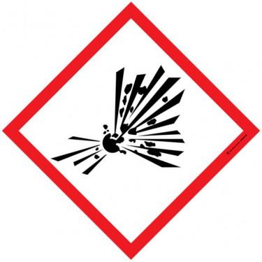 Lot de 5 autocollants visuel Losange Matières explosives