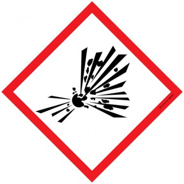 Visuel Losange Matières explosives