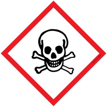 Lot de 5 autocollants visuel Losange Matières toxiques
