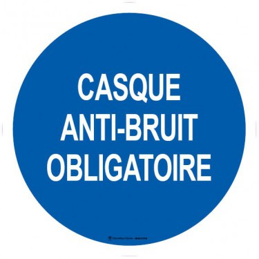 Lot de 5 autocollants visuel Casque Anti-Bruit Obligatoire