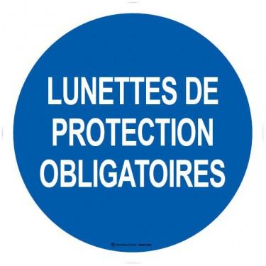 Lot de 5 autocollants visuel Lunettes de Protection Obligatoires