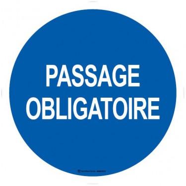 Lot de 5 autocollants visuel Passage obligatoire