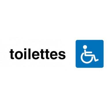 Panneau rectangulaire visuel Toilettes Accès Handicapés
