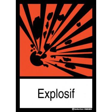 Panneau rectangulaire visuel Explosif