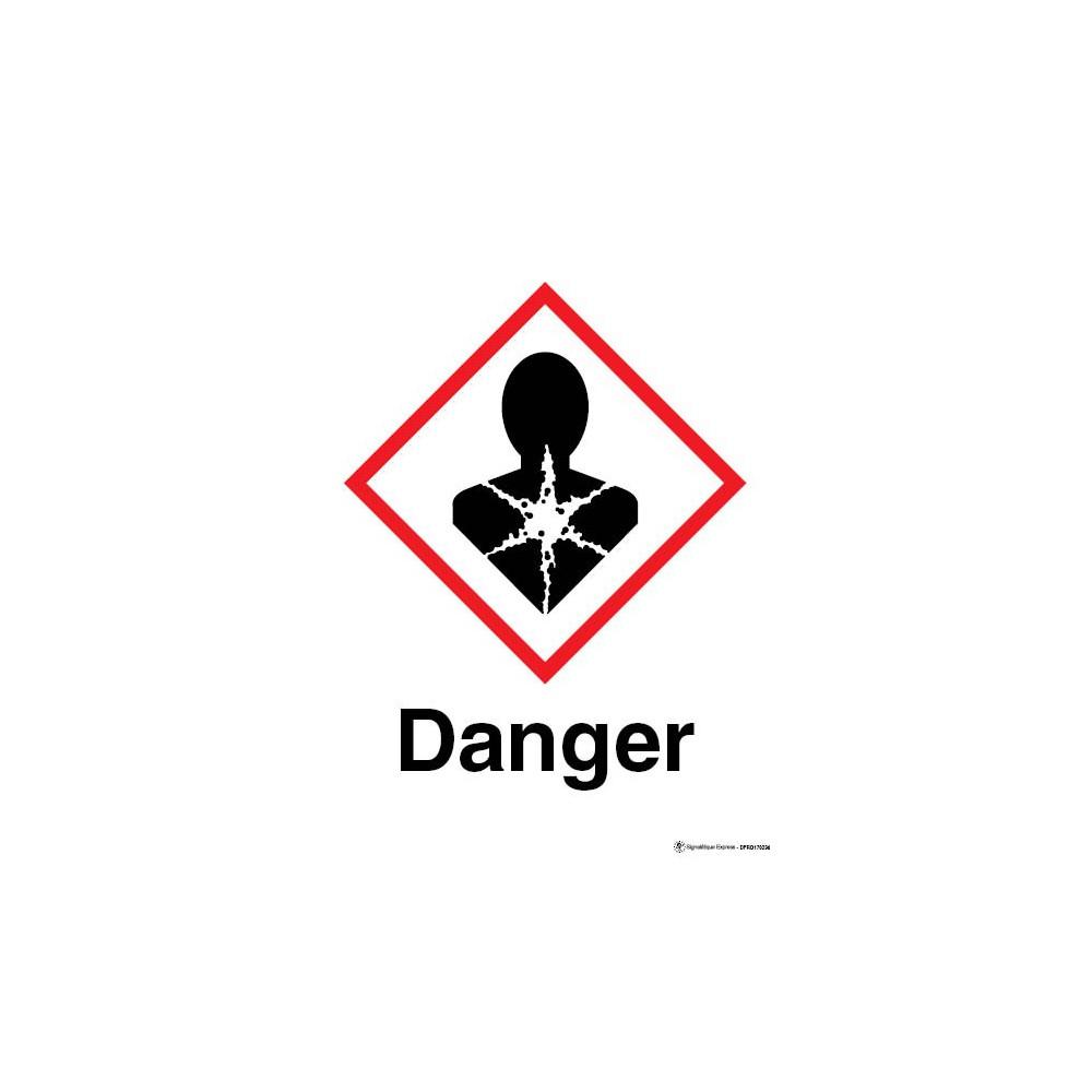 panneau danger mati re risque important pour la sant sgh08. Black Bedroom Furniture Sets. Home Design Ideas