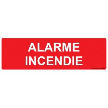 Panneau rectangulaire Alarme incendie