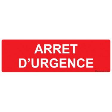 Panneau rectangulaire Arrêt d'urgence