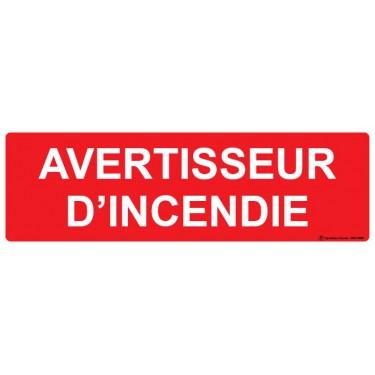 Panneau rectangulaire Avertisseur d'incendie