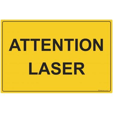 Panneau rectangulaire Attention Laser