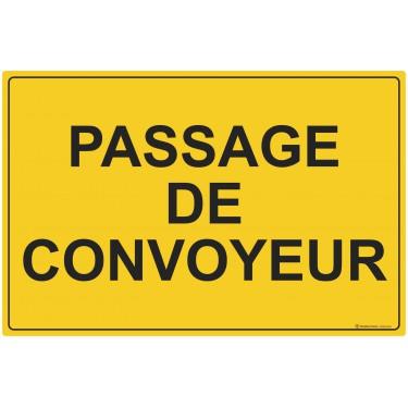 Panneau rectangulaire Passage de convoyeur