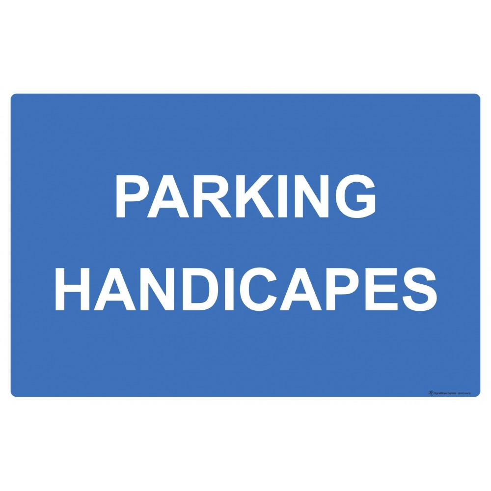 Panneau rectangulaire Parking handicapés
