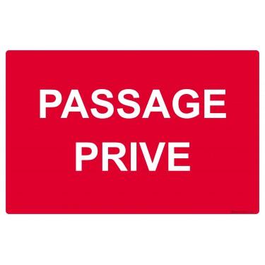 Panneau rectangulaire Passage privé