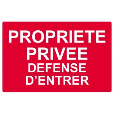 Panneau rectangulaire Propriété privée défense d'entrer