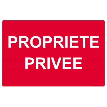 Panneau rectangulaire Propriété privée
