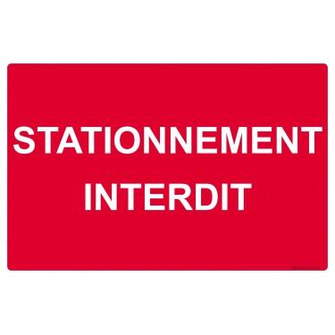 Panneau rectangulaire Stationnement interdit