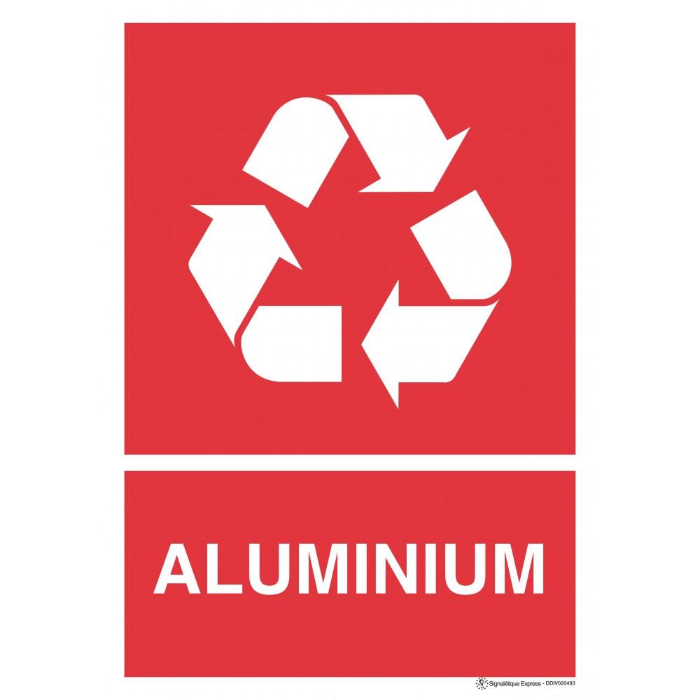 Panneau rectangulaire Tri sélectif Aluminium