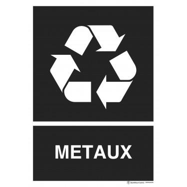 Panneau rectangulaire Tri sélectif Métaux