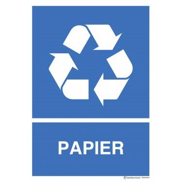 Panneau rectangulaire Tri sélectif Papier