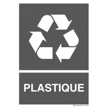 Panneau rectangulaire Tri sélectif Plastique