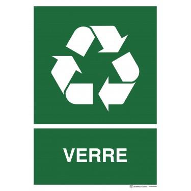 Panneau rectangulaire Tri sélectif Verre
