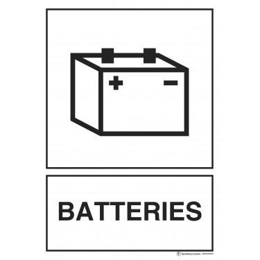 Panneau rectangulaire Tri sélectif Batteries