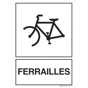 Panneau rectangulaire Tri sélectif Ferrailles