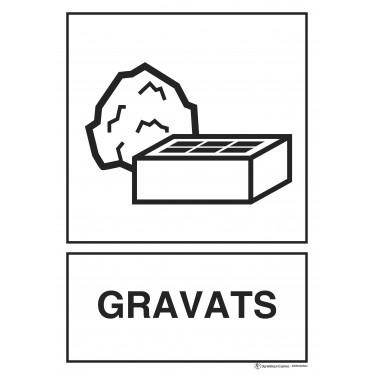 Panneau rectangulaire Tri sélectif Gravats