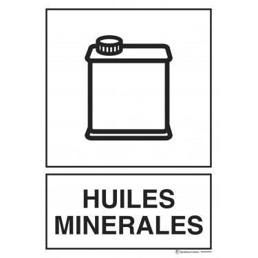 Panneau rectangulaire Tri sélectif Huiles minérales