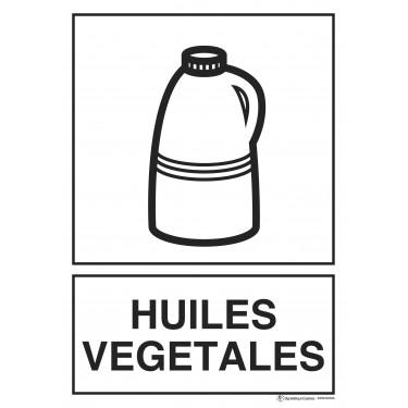 Panneau rectangulaire Tri sélectif Huiles végétales