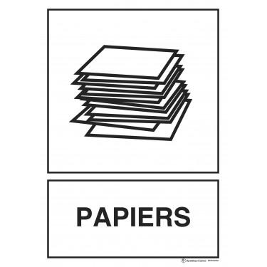 Panneau rectangulaire Tri sélectif Papiers