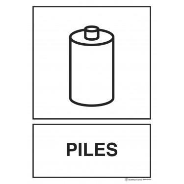 Panneau rectangulaire Tri sélectif Piles