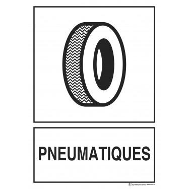 Panneau rectangulaire Tri sélectif Pneumatiques