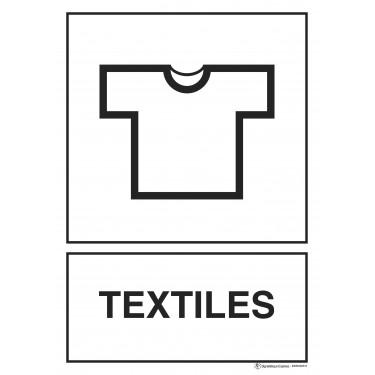Panneau rectangulaire Tri sélectif Textiles