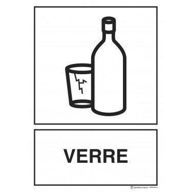 Panneau rectangulaire Tri sélectif picto Verre