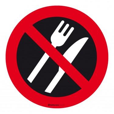 panneau interdiction de manger couverts. Black Bedroom Furniture Sets. Home Design Ideas