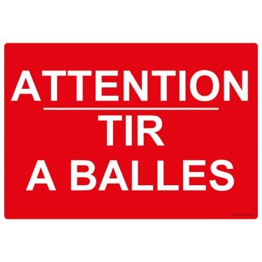 Panneau rectangulaire Attention Tir à Balles