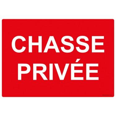 Panneau rectangulaire Chasse privée