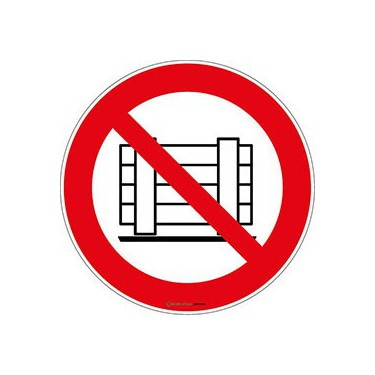 Lot de 5 autocollants Ne Pas Obstruer ISO 7010 P023
