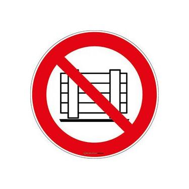 Panneau Ne Pas Obstruer ISO 7010 P023