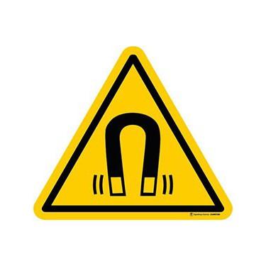 Lot de 5 autocollants Danger Champ Magnétique important