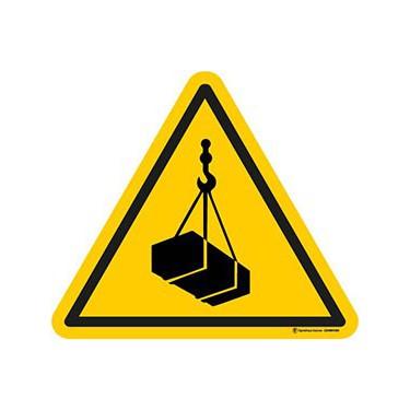Lot de 5 autocollants Danger Charges suspendues