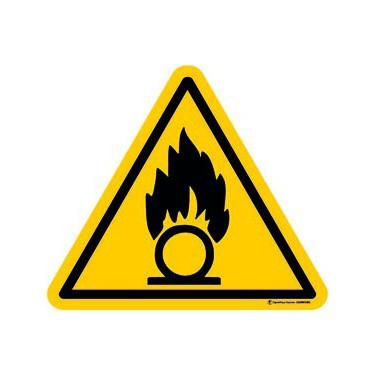 Lot de 5 autocollants Danger Substances Comburantes