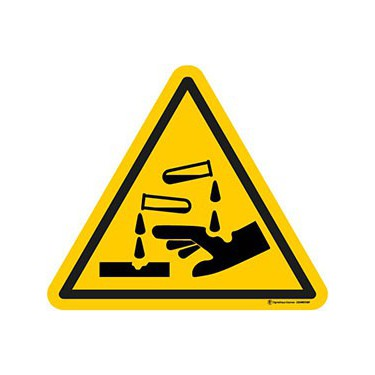 Panneau Danger Substances Corrosives